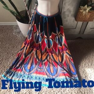 Colorful Flying Tomato skirt